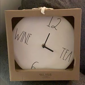 COPY - Rae Dunn  WINE TEA wall clock